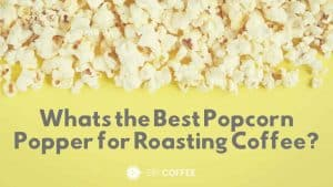 roasting coffee in a popcorn maker
