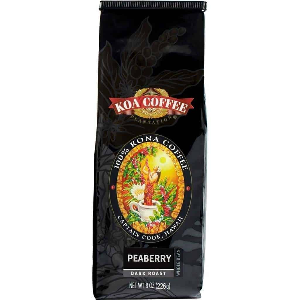 Peaberry Dark Roast Whole Bean 100% Kona
