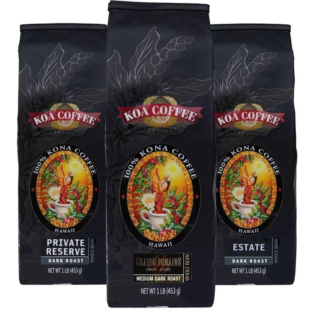 Whole Bean Kona Coffee Medium Roast Tri-Pack - Koa Coffee