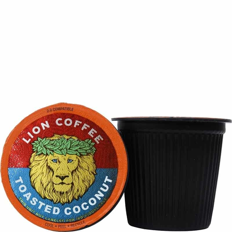 Toasted Coconut Lion Coffee Single Serve x 12
