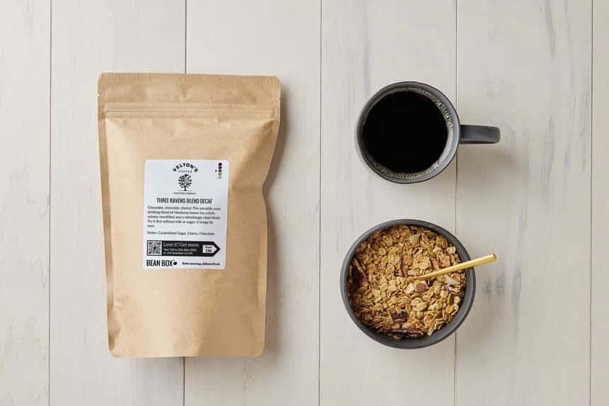 Velton Coffee's Three Ravens Blend Decaf