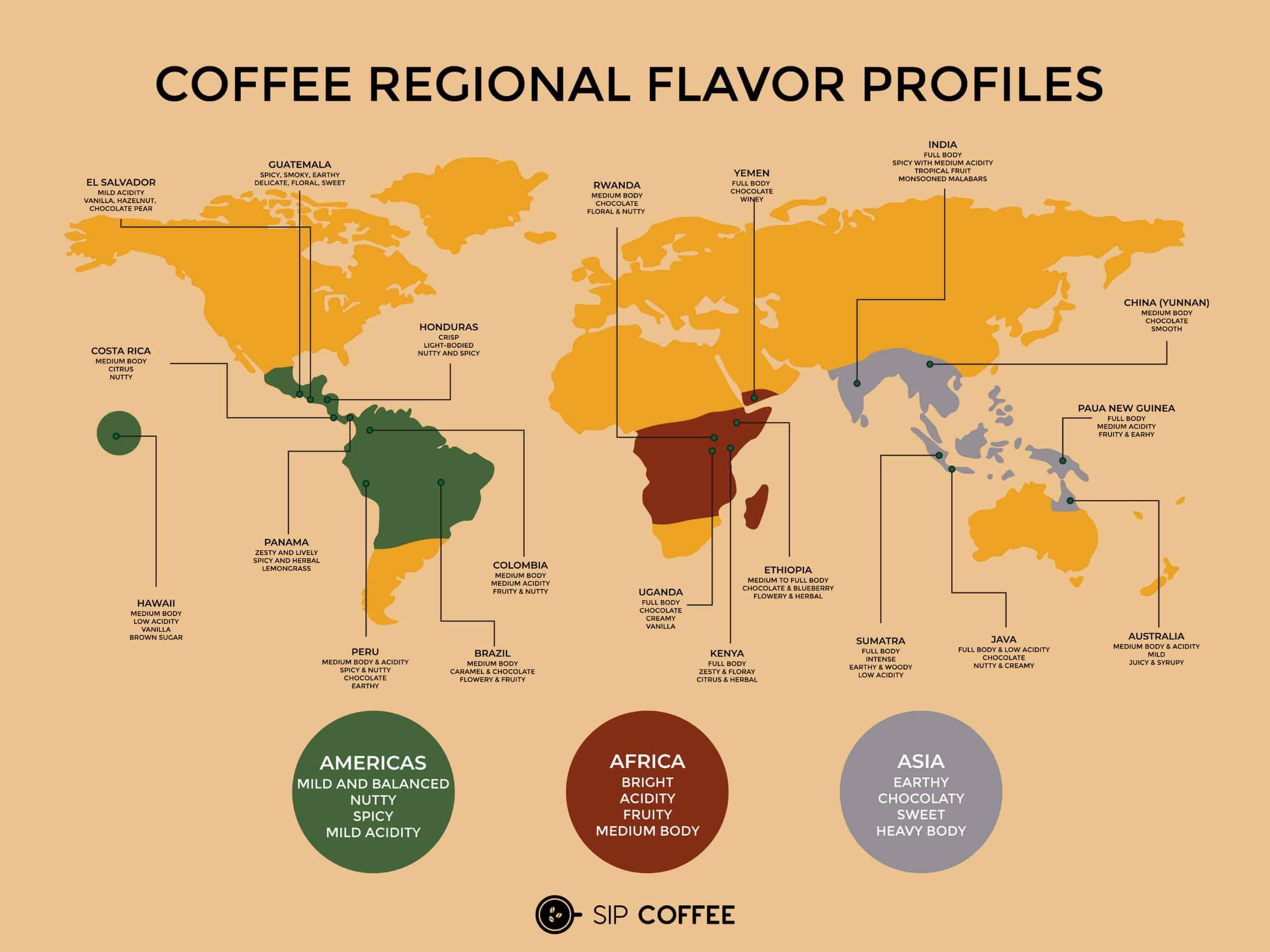 arabica coffee map