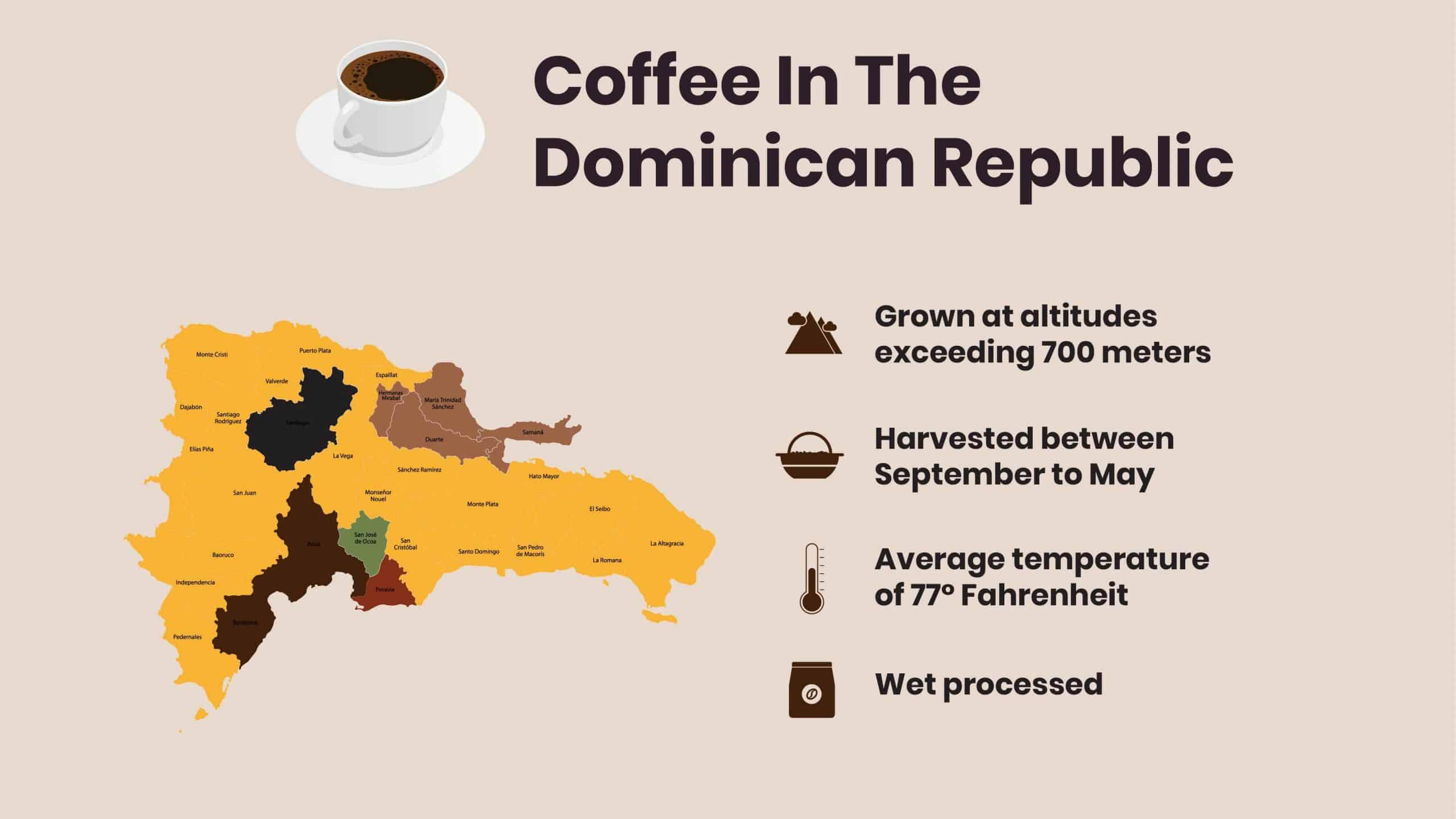 Dominican Republic Coffee facts