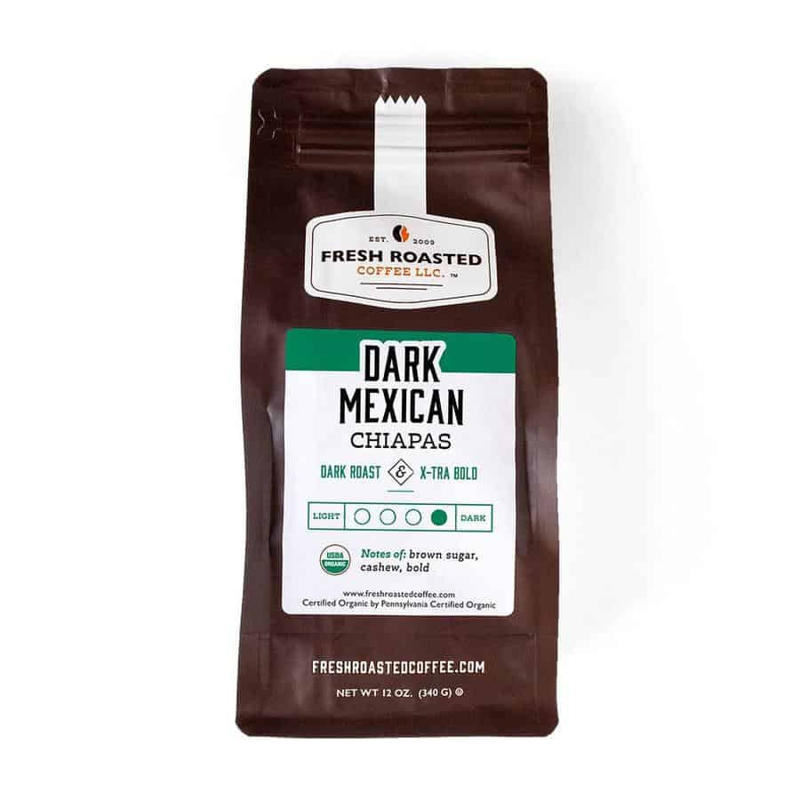 Organic Dark Mexican Chiapas Coffee | Fresh Roasted Coffee LLC