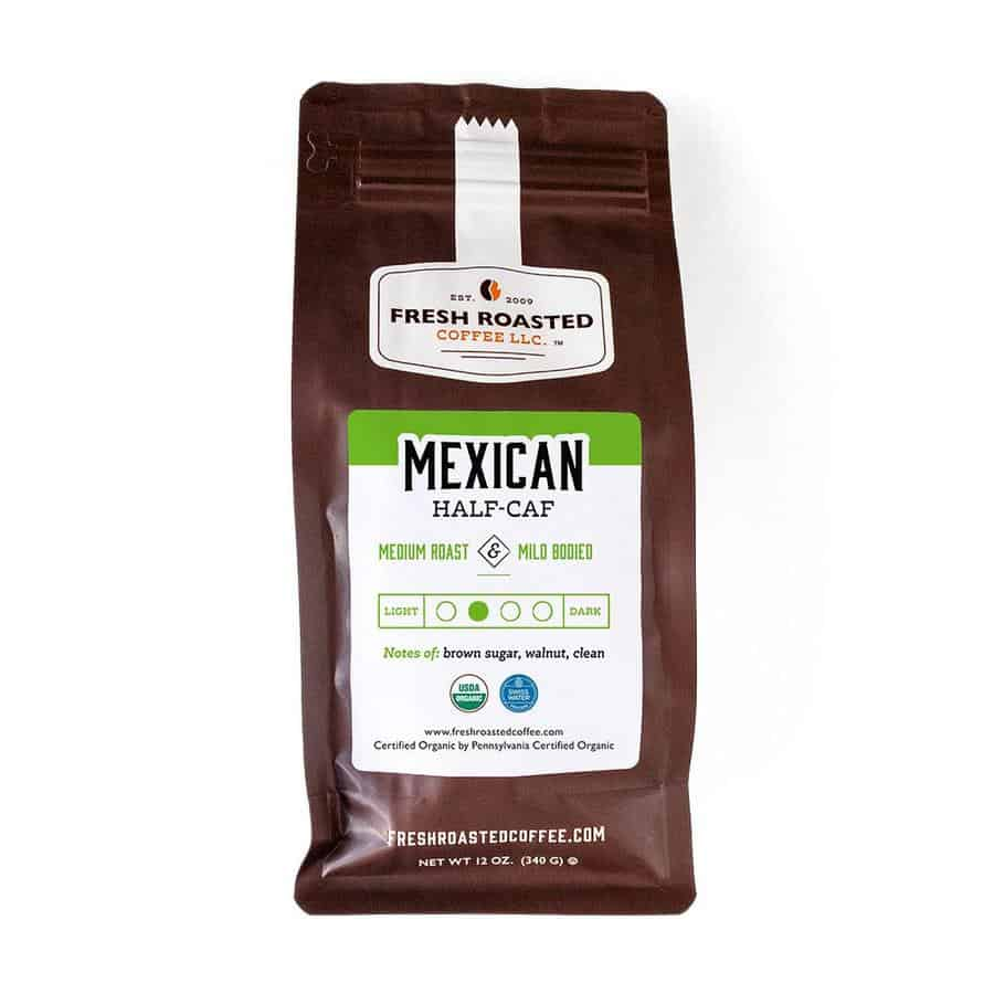 Organic Mexican Swiss Water Half Caf Coffee | Fresh Roasted Coffee LLC