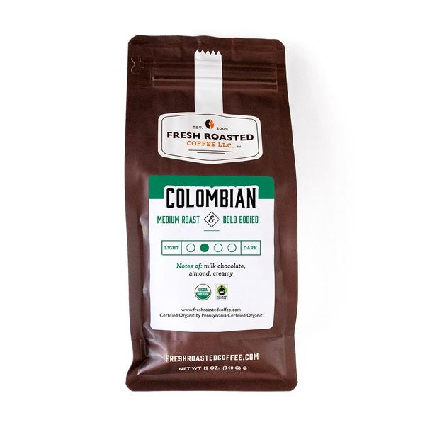 Organic Colombian Sierra Nevada Whole Bean Coffee Medium Roast