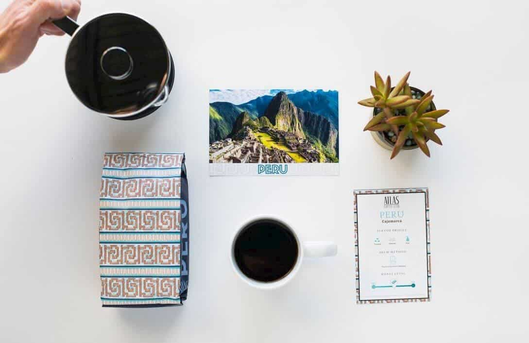 postcard and brew