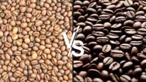medium v dark coffee