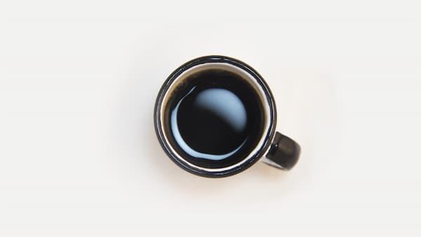 black drip coffee