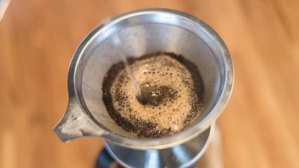 pour over metal filter brew