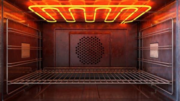 inside an oven