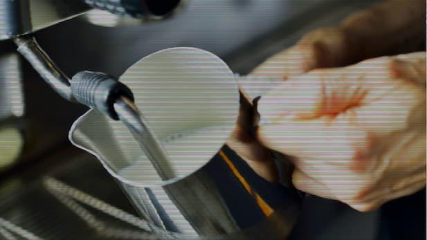 milk being steamed