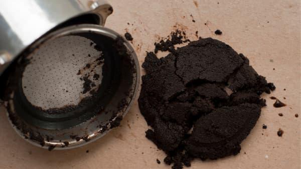 brewed espresso grounds