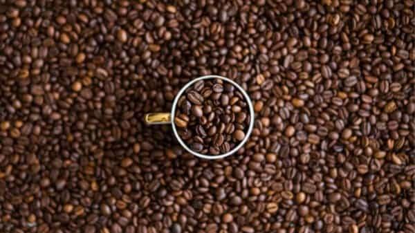 coffee beans n a cup