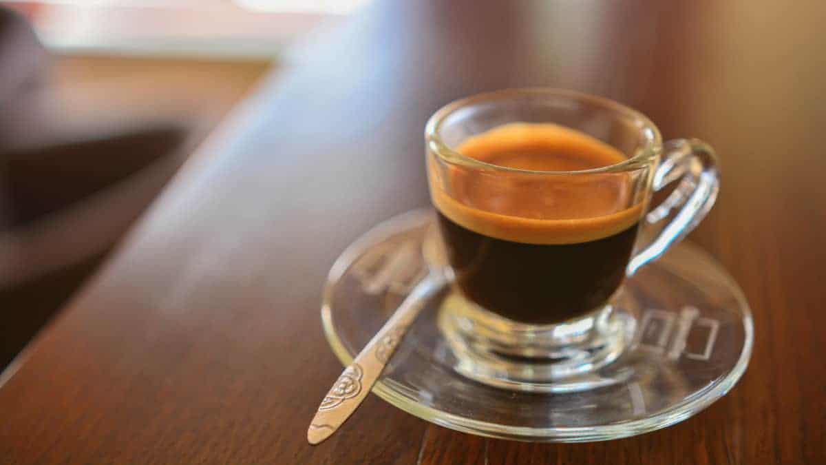 single cup of espresso