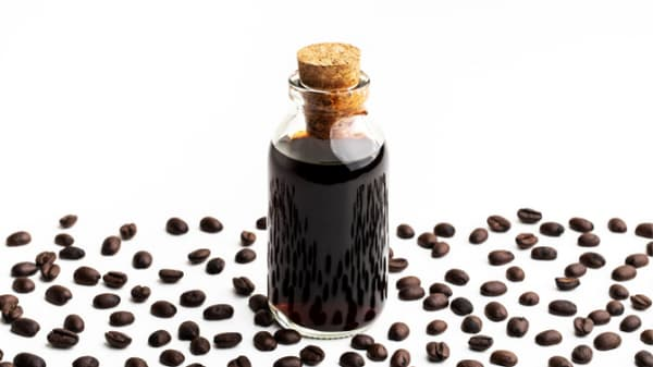 cold brewed jug with beans