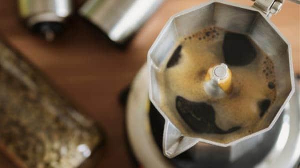 boiling stovetop espresso