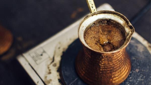 brewing an Istanbul coffee